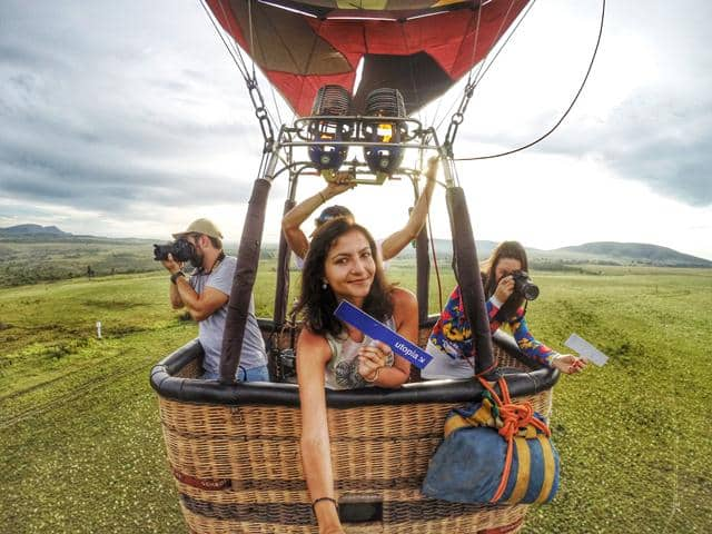 Balloon ride in Chapada