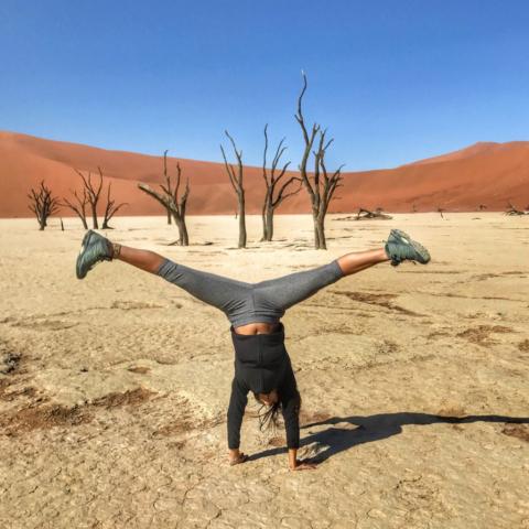 Live More, Travel More in Namibia with Chameleon Safaris - photo by Elaine Villatoro - Sossusvlei - Sand Dunes - Deserto da Namibia - Deadvlei - Dead Vlei - Dead Trees - Árvores Mortas - Star - Estrela  - Desert of Namibia - Deserto da Namíbia