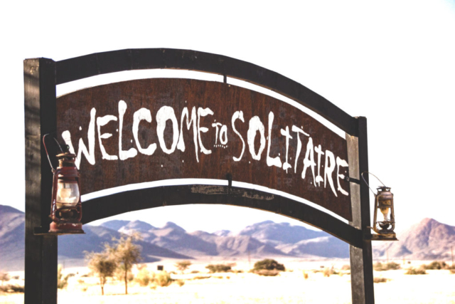 Live More, Travel More in Namibia with Chameleon Safaris - Soltaire Sign
