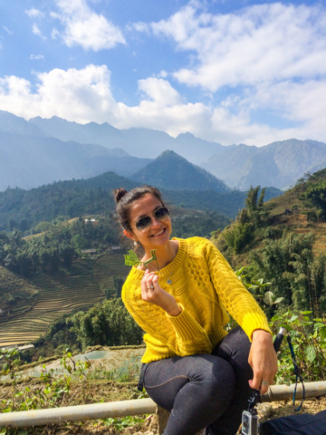 Elaine Villatoro - Live More, Travel More - Vietnam - Vietnã - Sapa - Cat Cat Village - Vilarejo - Khu Du Lich Cat Cat - Hike - Trilha - rice fields - plantação de arroz