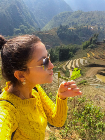 Elaine Villatoro - Live More, Travel More - Vietnam - Vietnã - Sapa - Cat Cat Village - Vilarejo - Khu Du Lich Cat Cat - Hike - Trilha - rice fields - plantação de arroz