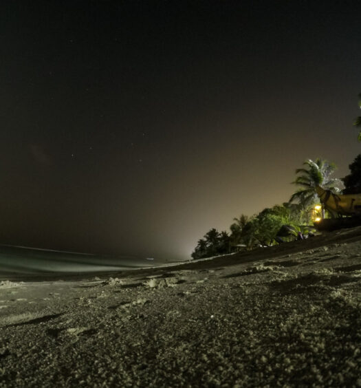Night Photo with GoPro at a beach in Maldives