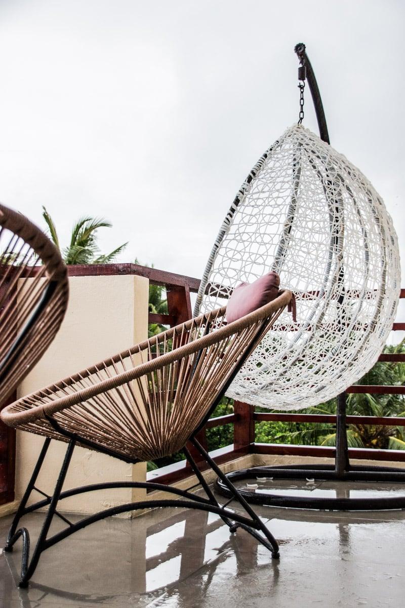 Varanda no White Sand Dhigurah Guest House