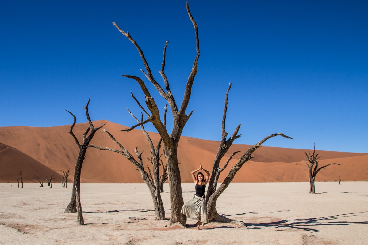 Woman in Deadvlei Namibia