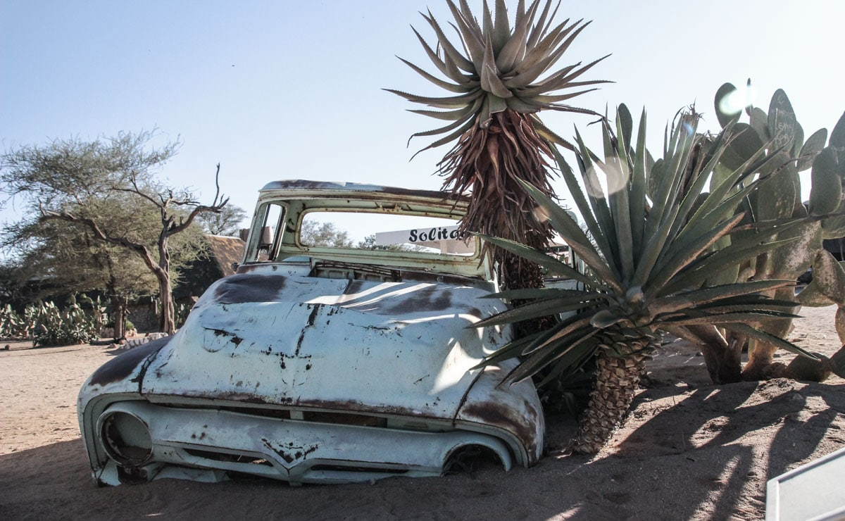 Abandoned car at Solitaire - Namibia