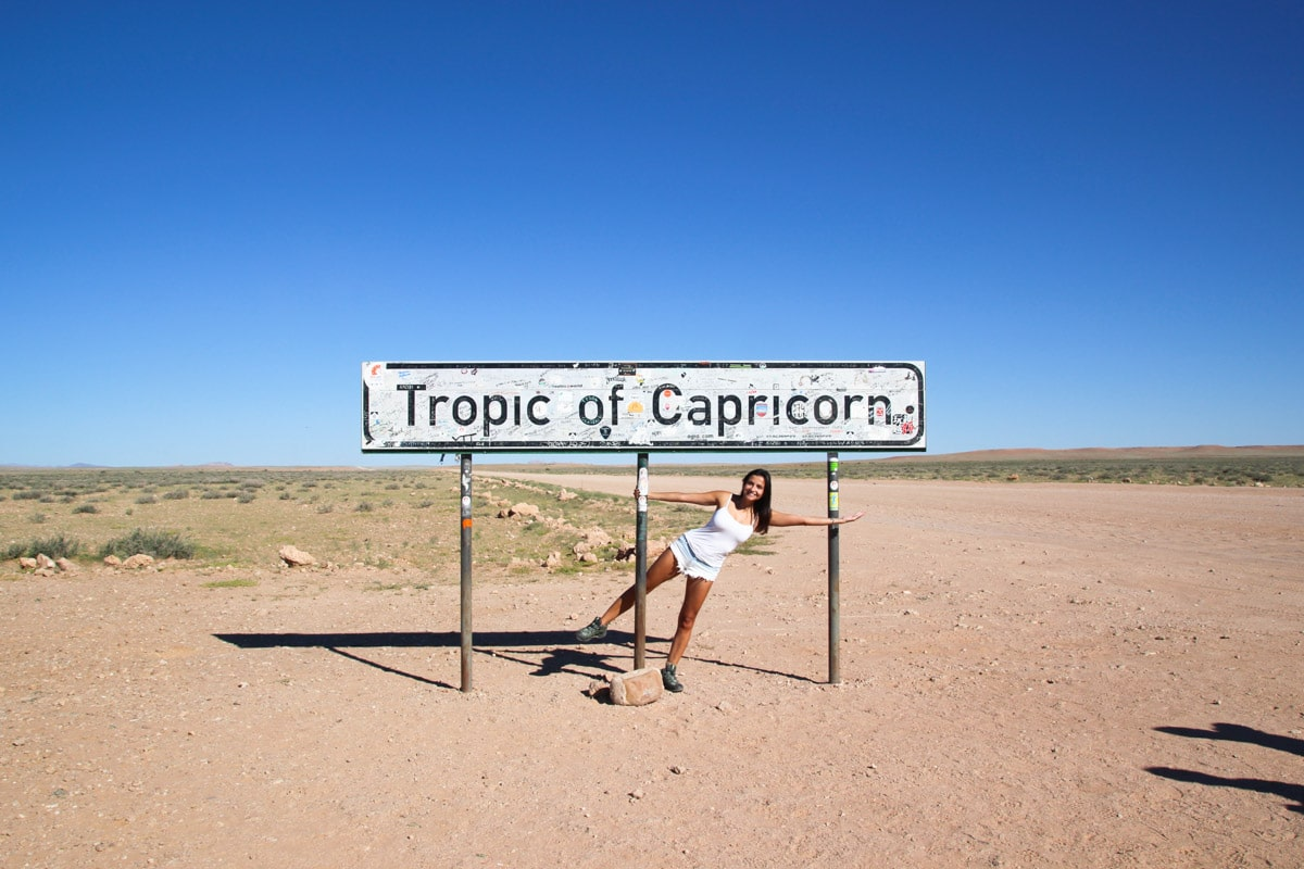 Tropic of Capricorn on Namibia
