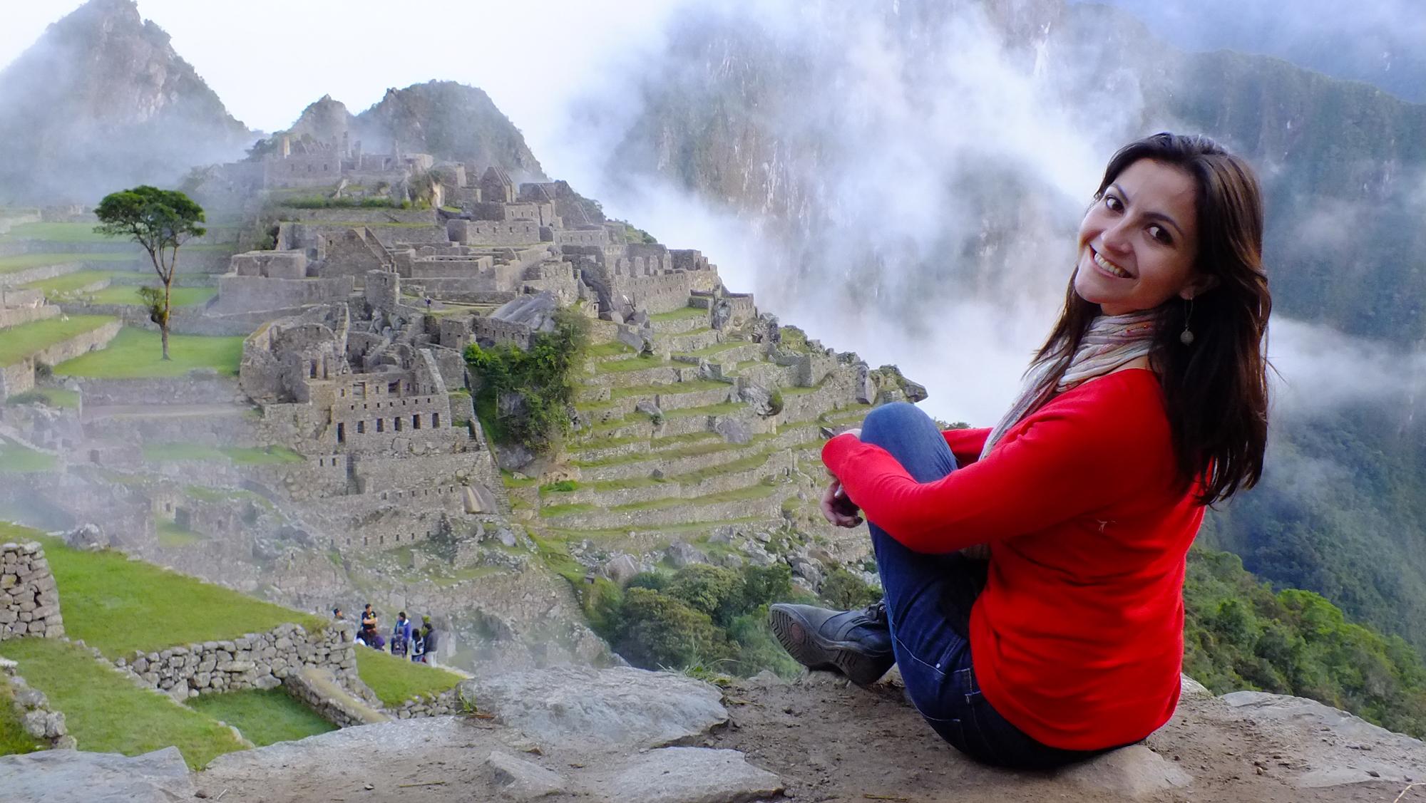 Elaine Villatoro in Machu Picchu - Peru