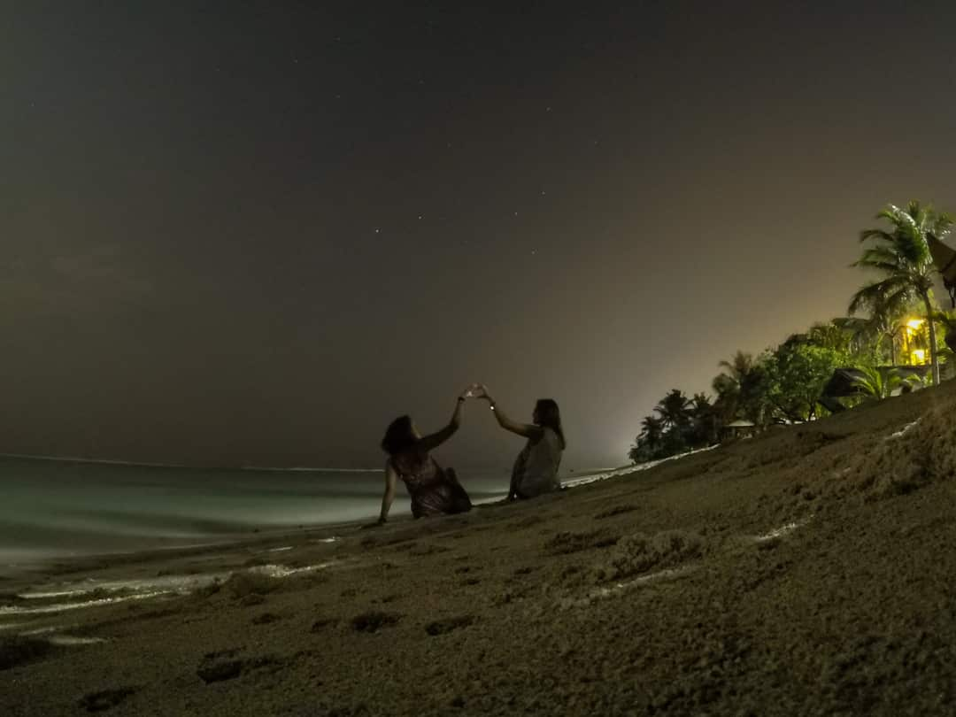 Maldives for friends - nights photo taken with GoPro