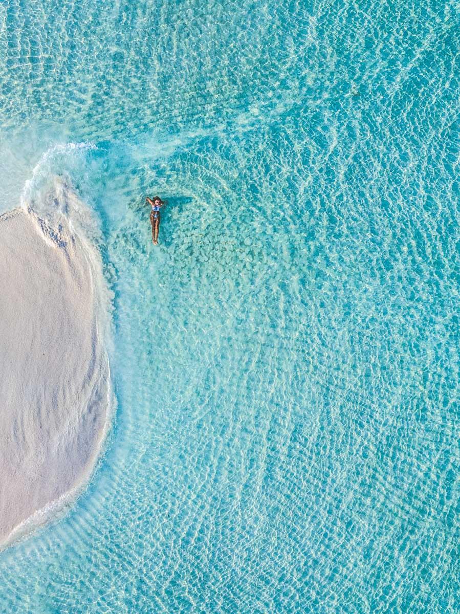Sandbank nas Ilhas Maldivas