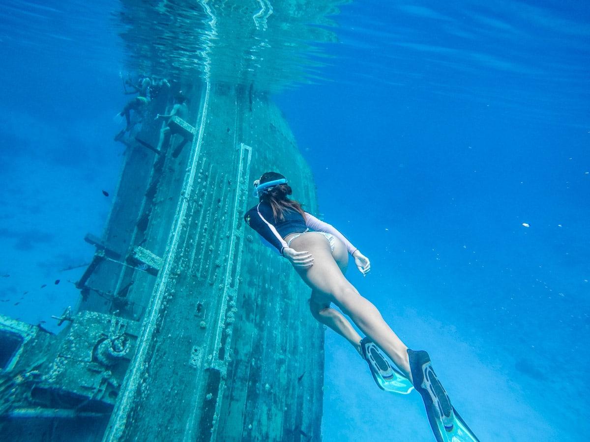 Snorkel em naufrágio nas Maldivas