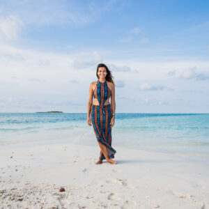 Elaine Villatoro at a Sandbank in Rasdhoo - Maldives
