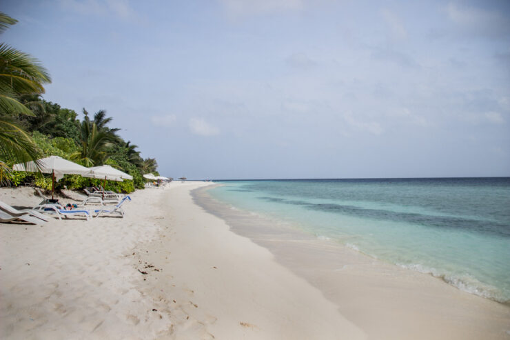 Ukulhas Bikini Beach in Maldives