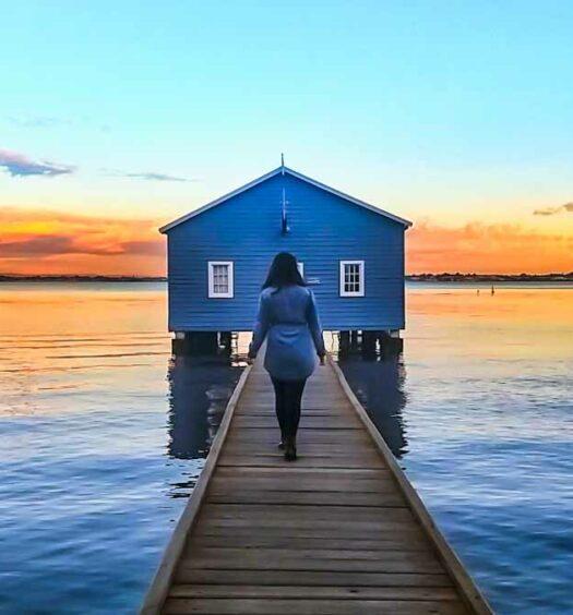 Blue Boat House in Perth, Australia