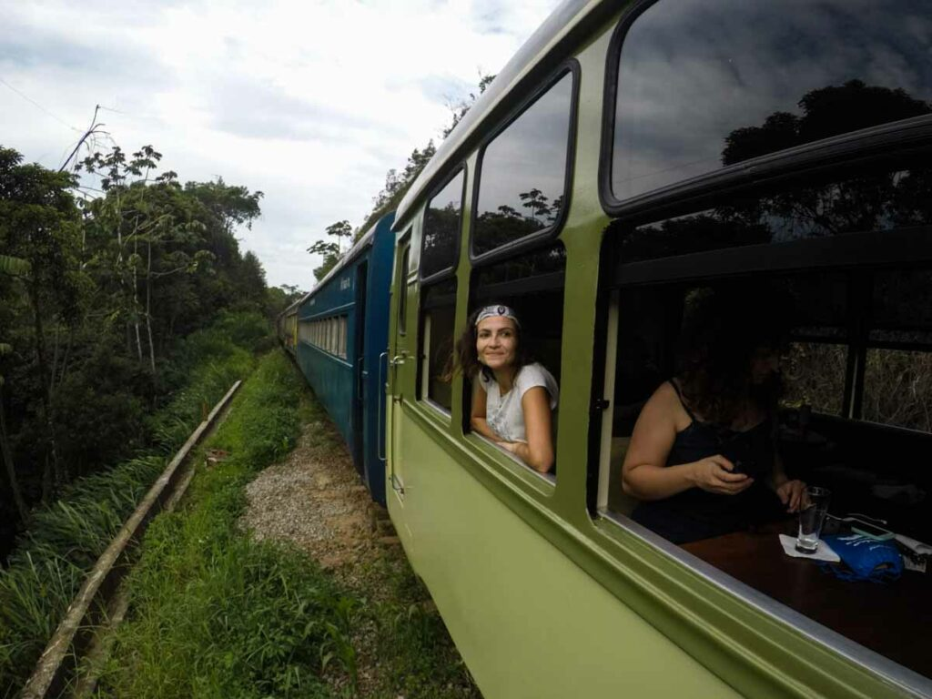 Train from Curitiba to Morretes