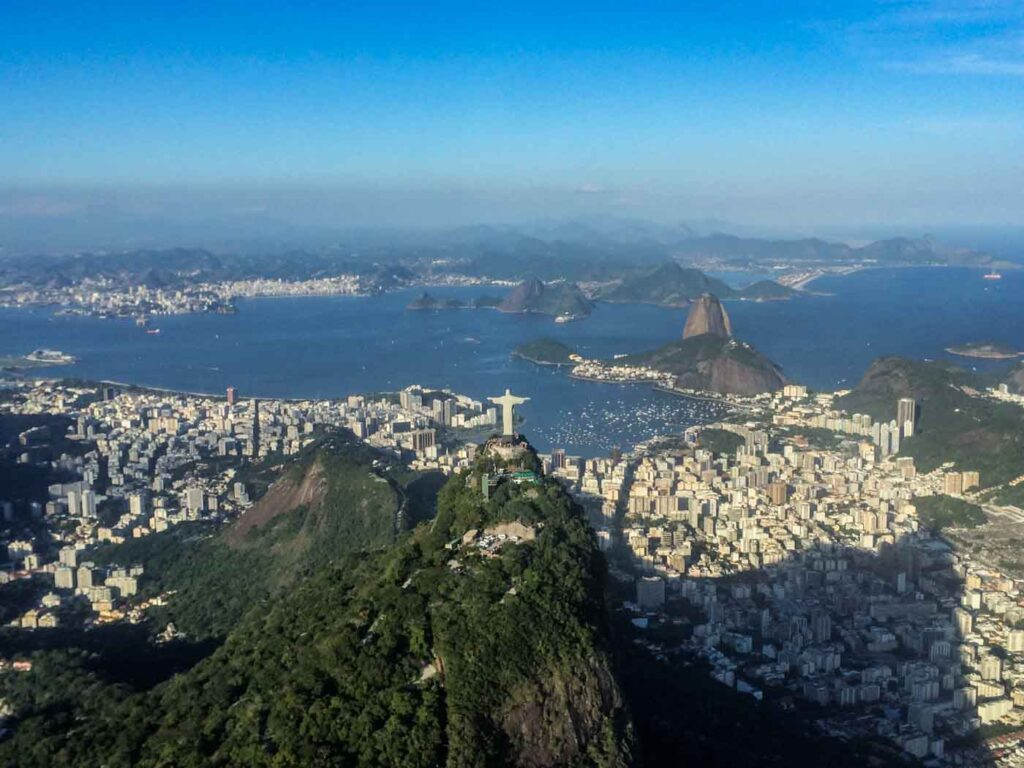 Vista do Passeio de Helicóptero no Rio de Janeiro